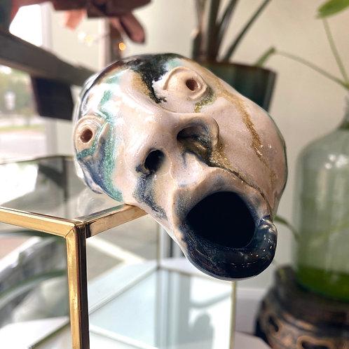 Large melting head // sculpture