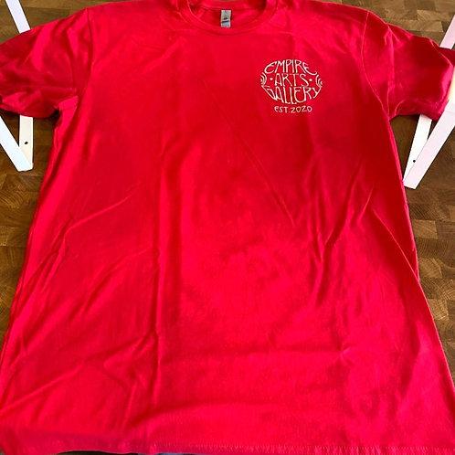 "Men's red short sleeve shirt ""Zuul"" design"