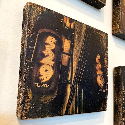 East Atlanta Village's 529 bar sign // photograph // mixed media // on wood
