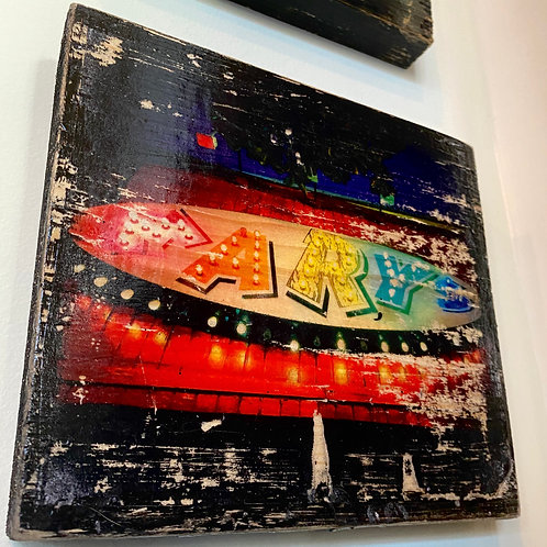 Mary's East Atlanta// photograph // mixed media // on wood
