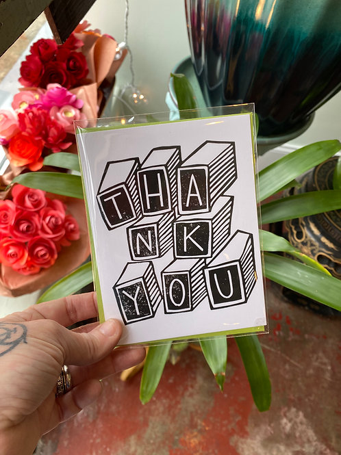 Thank you (blocks) // greeting card