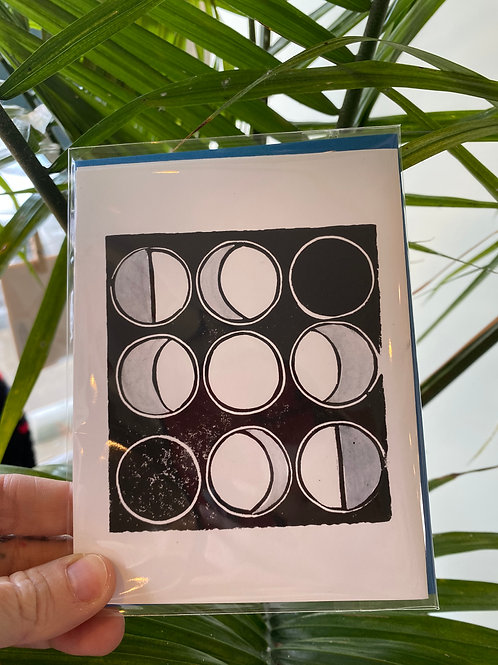 """""""Moon phases"""" // greeting card"""