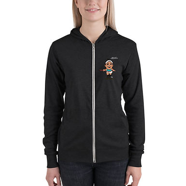 Unisex zip hoodie - Fly With Caro