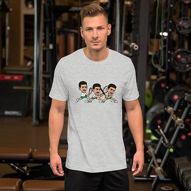 Short-Sleeve Unisex T-Shirt - Novak (Extend your leg for backhand)