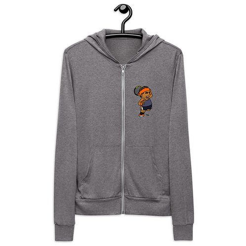 Unisex zip hoodie - Rafa King of Clay