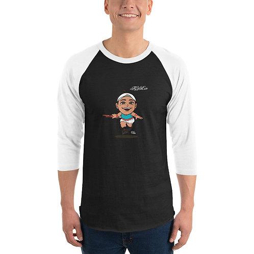 Unisex 3/4 sleeve raglan shirt - Fly With Caro