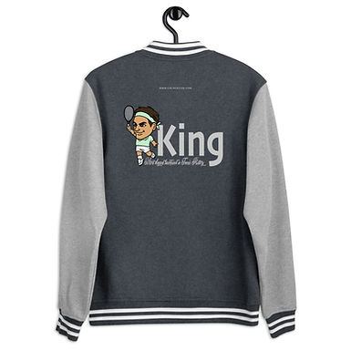 Men's Letterman Jacket - King Roger elegant backhand