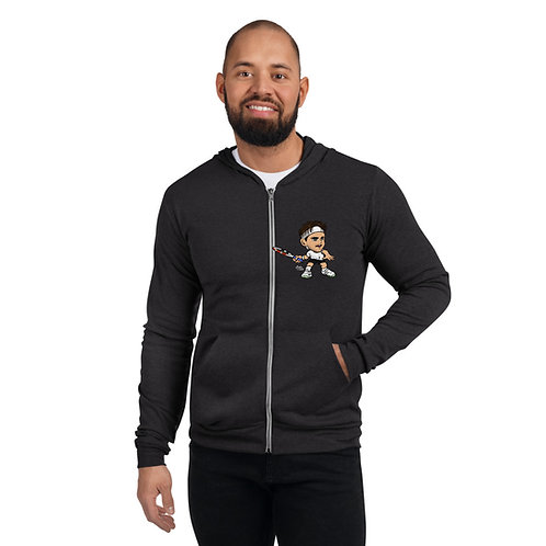 Unisex zip hoodie - Domi forehand