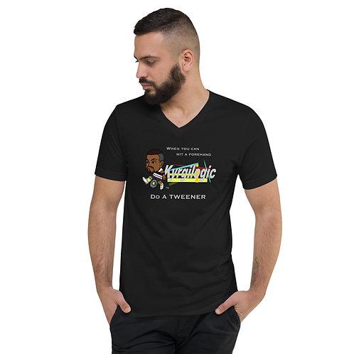 Unisex Short Sleeve V-Neck T-Shirt - Nick Tweener