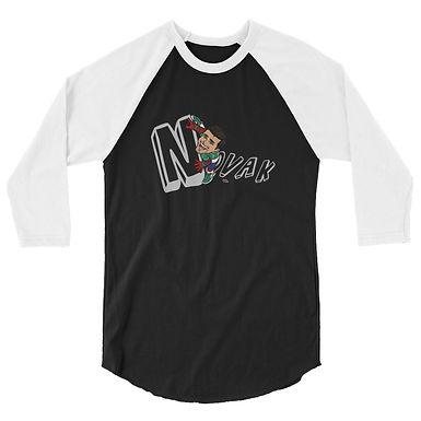 Unisex 3/4 sleeve raglan shirt - Spider Novak
