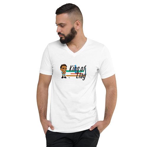 Unisex Short Sleeve V-Neck T-Shirt - Rafa 2020 Cute Smile
