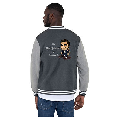 Men's Letterman Jacket - Most Stylish Man of the decade Roger