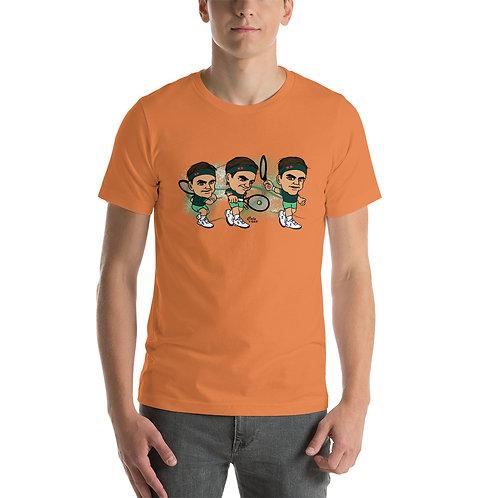 Short-Sleeve Unisex T-Shirt - King Roger elegant backhand