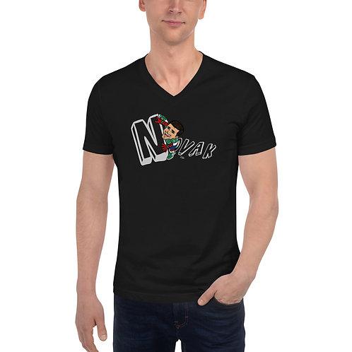 Unisex Short Sleeve V-Neck T-Shirt - Spider Novak