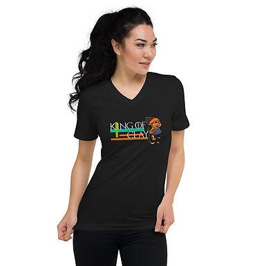 Unisex Short Sleeve V-Neck T-Shirt - Rafa King of Clay