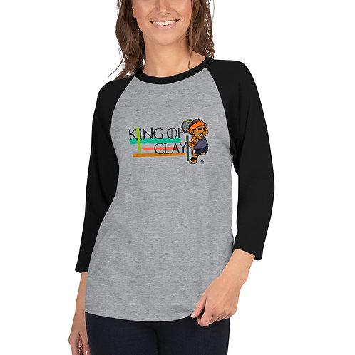Unisex 3/4 sleeve raglan shirt - Rafa King of Clay