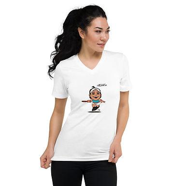 Unisex Short Sleeve V-Neck T-Shirt - Fly With Caro