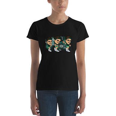 Women's short sleeve t-shirt - King Roger elegant backhand