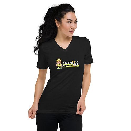 Unisex Short Sleeve V-Neck T-Shirt - Stefanos