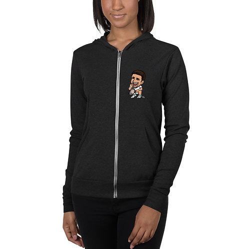 Unisex zip hoodie - Novak Taste of Victory