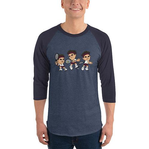 Unisex 3/4 sleeve raglan shirt - Roger