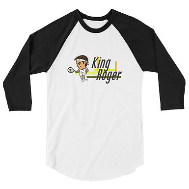 Unisex 3/4 sleeve raglan shirt - King Roger
