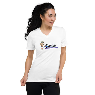 Unisex Short Sleeve V-Neck T-Shirt - Domi