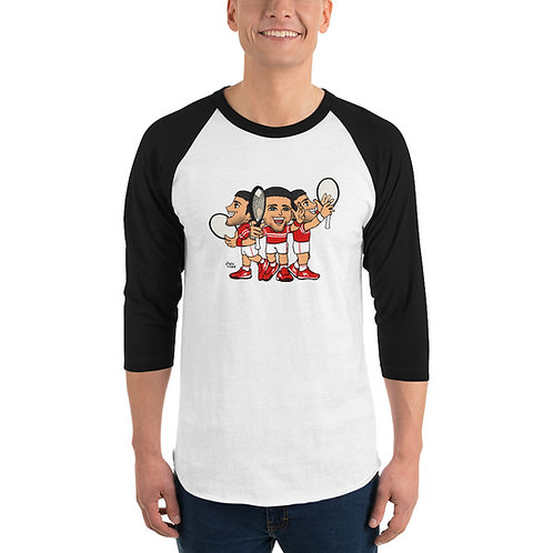 Unisex 3/4 sleeve raglan shirt - Novak Celebrate