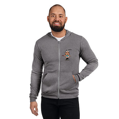 Unisex zip hoodie - Fly With Caro