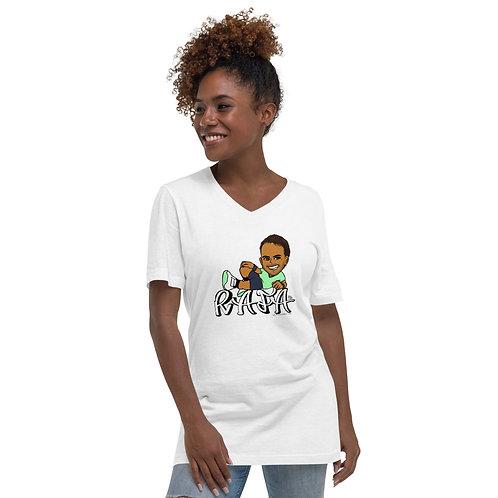 Unisex Short Sleeve V-Neck T-Shirt - RAFA smile (S)