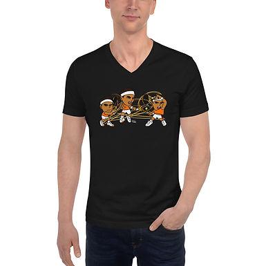 Unisex Short Sleeve V-Neck T-Shirt - Rafa Signature Forehand