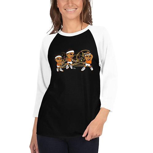 Unisex 3/4 sleeve raglan shirt - Rafa Signature Forehand