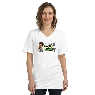 Unisex Short Sleeve V-Neck T-Shirt - Novak Taste of Victory