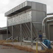 Wood baghouse filter AirAlanco Installation Moldow Installation