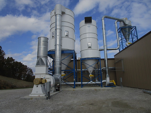Dust Collector, Bag House, Cyclone, Rotary air Lock, Material Handling Fan, Ductwork, explosion panels, NFPA