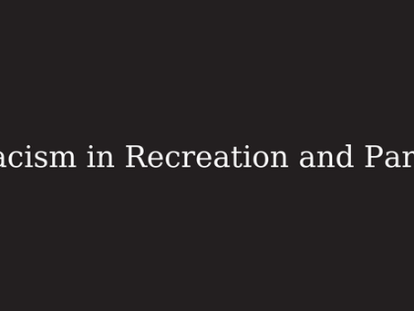 Racism in Recreation and Parks