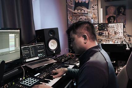 Joey Casanova producing in the studio