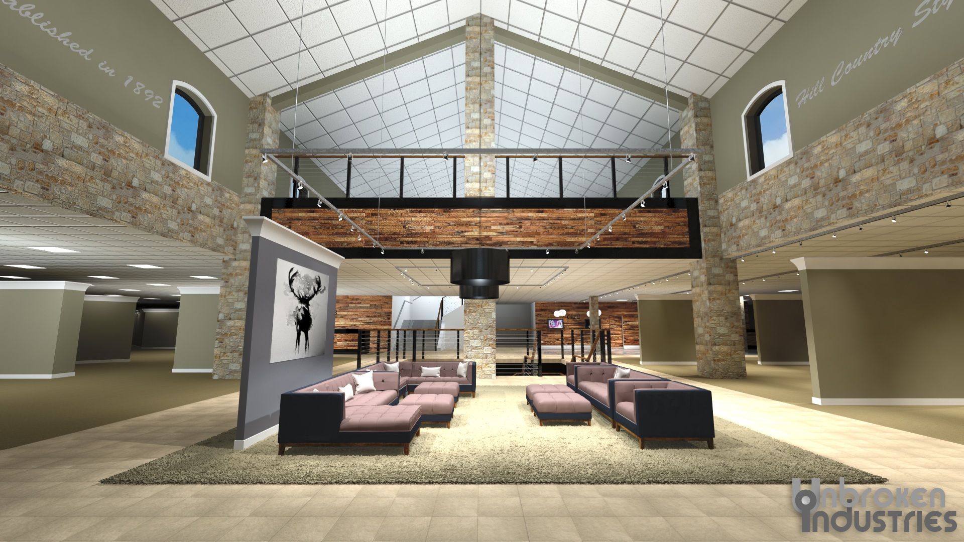 Furniture Store Interior Rendering