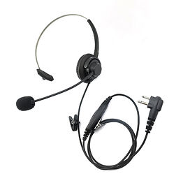 two way walkie talkie headset over the ear bk style