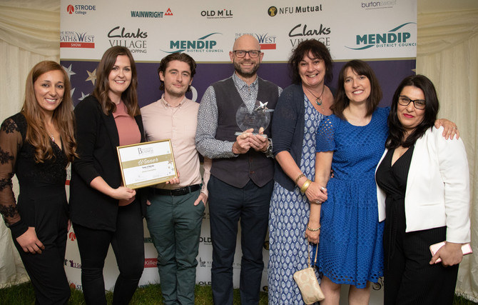 Winners at the Mendip Business Awards 2019