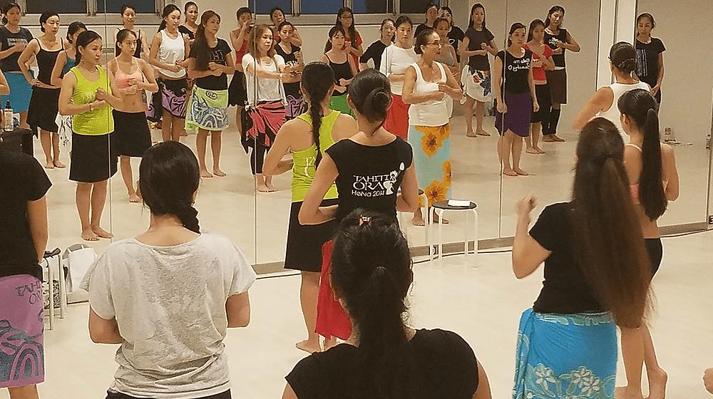 新宿荻窪タヒチアンダンス教室 タパイルワークショップ2
