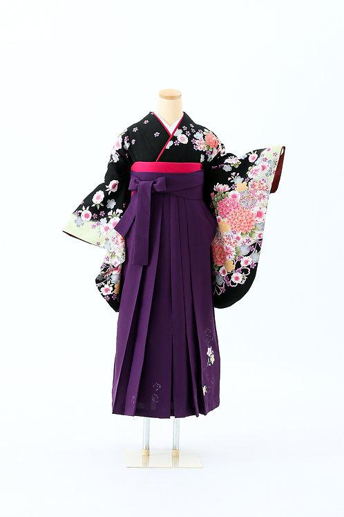 紫袴に花模様 SH-17