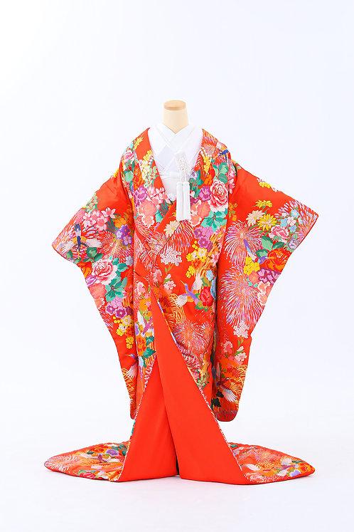 鶴と花 E-10