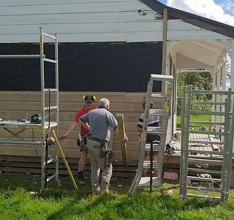 Photo of Joss  House being recladd on Ea