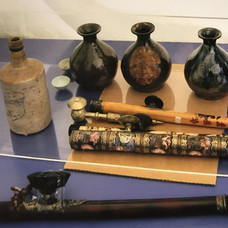 Artefacts  from the camp at Lawrence Museum.