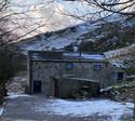 Cracken Edge Barn in the snow