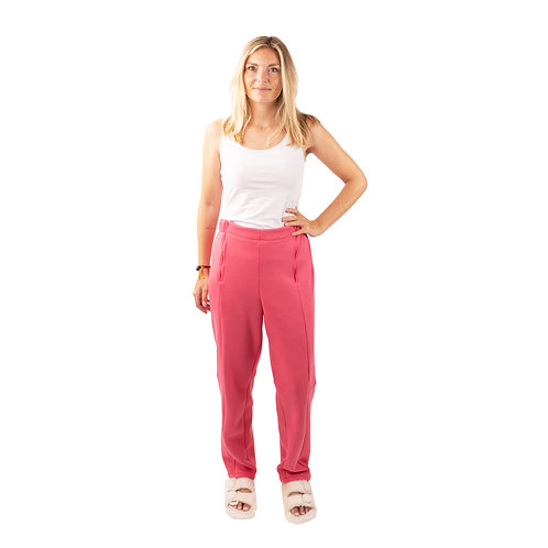 Joggingbroek Roze met 4 ritsen