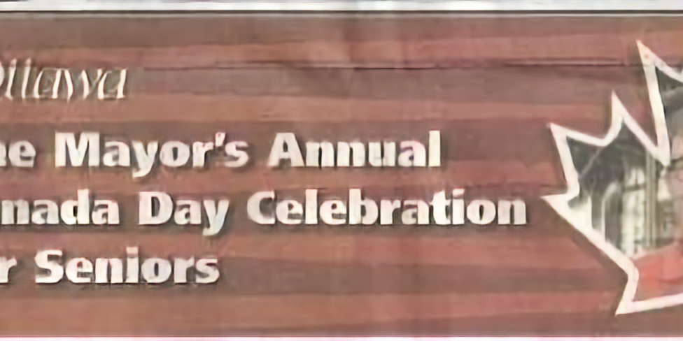 The Ottawa Mayor's Canada Day Celebration for Seniors