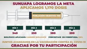 Concluye la Jornada de Vacunación en Sunuapa del Plan de Refuerzo del Programa de Vacunación Contra