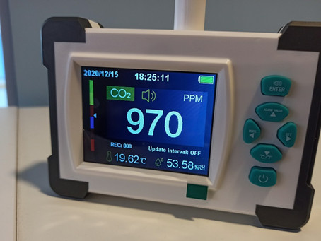 Empleo de medidores de dióxido de carbono en centros de día y residencias